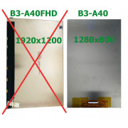 B3-A40 LCD Displej pro Acer Iconia B3-A40 KD101N55-40NA-A005 Screen