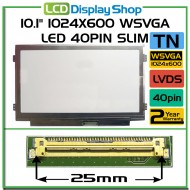 "10.1"" 1024x600 WSVGA LED 40pin Slim"