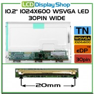 "10.2"" 1024x600 WSVGA LED 30pin Wide"
