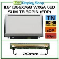 "11.6"" 1366x768 HD LED Slim TB 30pin (eDP)"