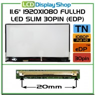 "11.6"" 1920x1080 FullHD LED Slim 30pin (eDP)"
