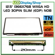 "12.5"" 1366x768 WXGA HD LED 30pin Slim (eDP) noB"
