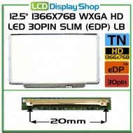 """12.5"""" 1366x768 WXGA HD LED 30pin Slim (eDP) LB"""