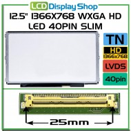 "12.5"" 1366x768 WXGA HD LED 40pin Slim LB"