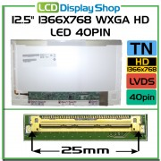 LTN125AT02-301 laptop displej