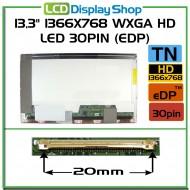 """13,3"""" 1366x768 WXGA HD LED 30pin (eDP)"""