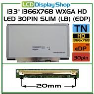 """13.3"""" 1366x768 WXGA HD LED 30pin Slim (LB) (eDP)"""