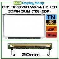 """13.3"""" 1366x768 WXGA HD LED 30pin Slim (TB) (eDP)"""