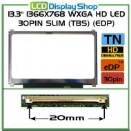 "13.3"" 1366x768 WXGA HD LED 30pin Slim (TBS) (eDP)"