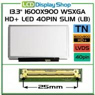 "13.3"" 1600x900 WSXGA  HD+ LED 40pin Slim (LB)"
