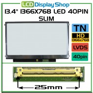 "13.4"" 1366x768 LED 40Pin Slim"