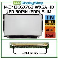 """14.0"""" 1366x768 WXGA HD LED 30pin (eDP) Slim"""