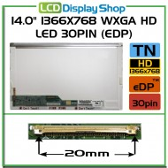 "14.0"" 1366x768 WXGA HD LED 30pin (eDP)"