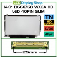 "14.0"" 1366x768 WXGA HD LED 40pin Slim"