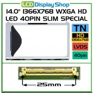 "14.0"" 1366x768 WXGA HD LED 40pin Slim Special"