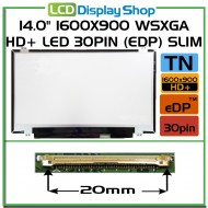"14.0"" 1600x900 WSXGA HD+ LED 30pin (eDP) Slim"