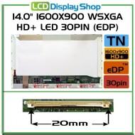 """14.0"""" 1600x900 WSXGA HD+ LED 30pin (eDP)"""