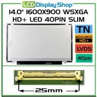 "14.0"" 1600x900 WSXGA HD+ LED 40pin Slim"