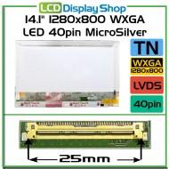 """14.1"""" 1280x800 WXGA LED 40pin MicroSilver"""