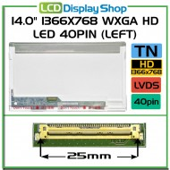 "14.0"" 1366x768 WXGA HD LED 40pin (Levý)"