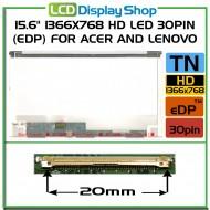 """15.6"""" 1366x768 HD LED 30pin (eDP) pro Acer a Lenovo"""