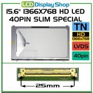 "15.6"" 1366x768 HD LED 40pin Slim Special"