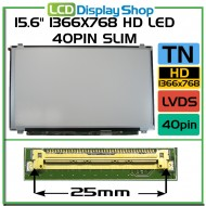 "15.6"" 1366x768 HD LED 40pin Slim"