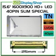 "15.6"" 1600x900 HD+ LED 40pin Slim Special"