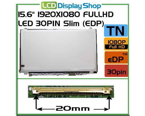 "LP156WF4 (SP) (U1) LP156WF4-SPU1 Laptop Displej - 15.6"" 1920x1080 Full HD LED 30pin Slim (eDP)"