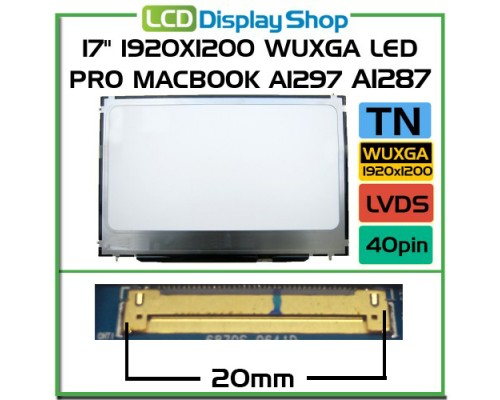 Apple Macbook A1297 A1287 17 Laptop Displej - Macbook LCD