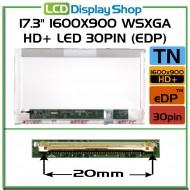 """17.3"""" 1600x900 WSXGA HD+ LED 30pin (eDP)"""