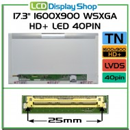 "17.3"" 1600x900 WSXGA HD+ LED 40pin"