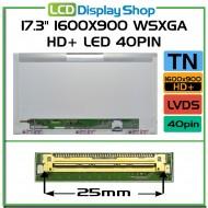 """17.3"""" 1600x900 WSXGA HD+ LED 40pin"""