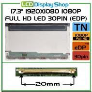 """17.3"""" 1920x1080 1080p Full HD LED 30pin (eDP)"""