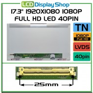 "17.3"" 1920x1080 1080p Full HD LED 40pin"