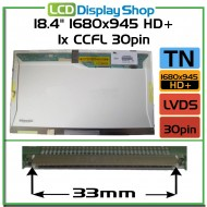 """18.4"""" 1680x945 HD+ 1x CCFL 30pin"""