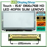 "Dotykový - 15.6"" 1366x768 HD LED 40pin Slim LENOVO"