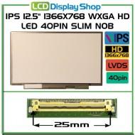 """IPS 12.5"""" 1366x768 WXGA HD LED 40pin Slim noB"""