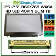 "IPS 12.5"" 1366x768 WXGA HD LED 40pin Slim TB"