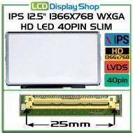 """IPS 12.5"""" 1366x768 WXGA HD LED 40pin Slim LB"""
