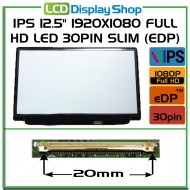 "IPS 12.5"" 1920x1080 Full HD LED 30pin Slim (eDP) noB"