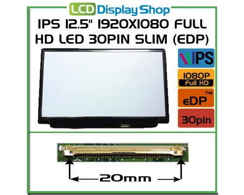 "LP125WF2-SPB1 Laptop Displej - IPS 12.5"" 1920x1080 Full HD LED 30pin Slim (eDP)"