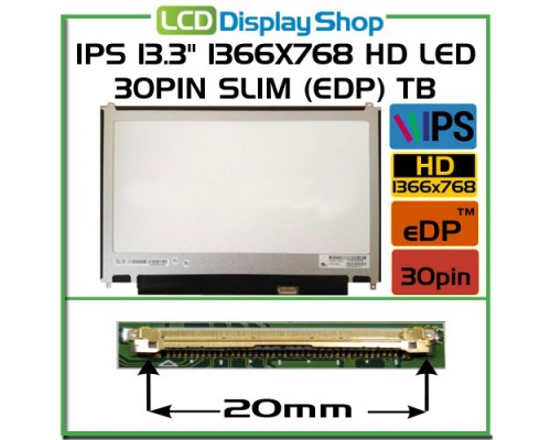 "LP133WH2-SPA1 Laptop displej - IPS 13.3"" 1366x768 HD LED 30pin Slim (eDP) TB"