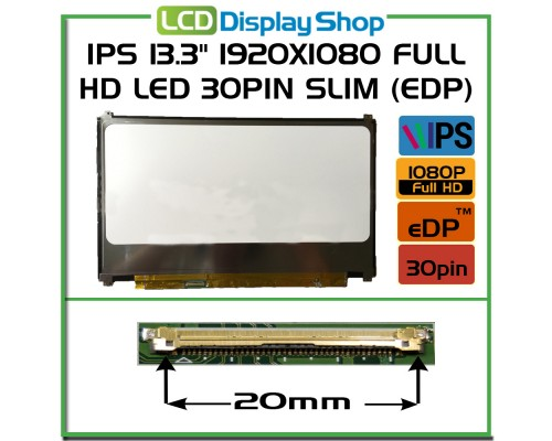 "N133HSE-EA1 rev.C1 Laptop Displej - IPS 13.3"" 1920x1080 Full HD LED 30pin Slim (eDP)"