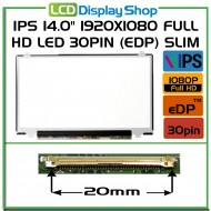 "IPS 14.0"" 1920x1080 Full HD LED 30pin (eDP) Slim"