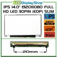 "IPS 14.0"" 1920x1080 Full HD LED 30pin (eDP) Slim"