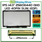 B140QAN01.1 IPS LCD Screen 2560x1440 QHD Laptop Displej