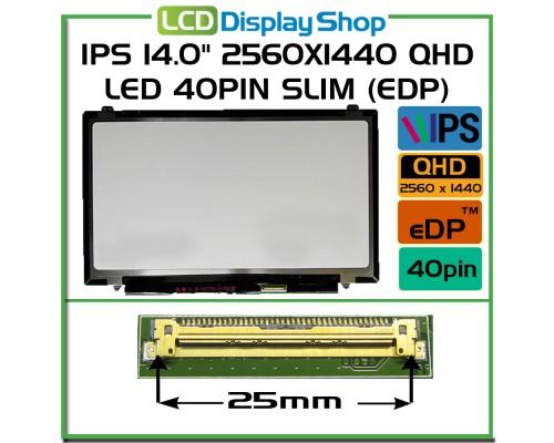 "HP Elitebook 840 G3 823952-001 IPS LCD Screen 2560x1440 QHD Laptop Displej - IPS 14.0"" 2560x1440 QHD LED 40pin Slim (eDP)"