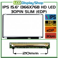 "IPS 15.6"" 1366x768 HD LED 30pin Slim (eDP)"