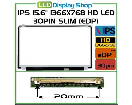 """IPS LCD 30pin eDP LP156WHA-SPA1 15,6 Laptop Displej - IPS 15.6"""" 1366x768 HD LED 30pin Slim (eDP)"""